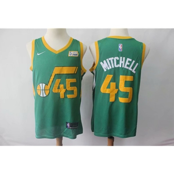 purchase cheap e6a02 d363e Utah Jazz Donovan Mitchell Green Jersey NWT